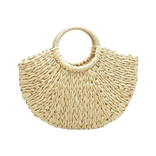 Load image into Gallery viewer, Nude paper straw beach bag