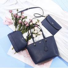 Load image into Gallery viewer, Handbag set in navy blue
