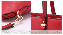 Load image into Gallery viewer, Handbag set in burgundy red