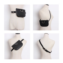 Load image into Gallery viewer, Black Faux Leather Belt Bag