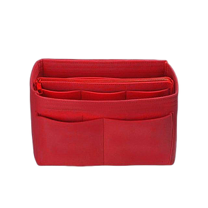 Handbag organiser insert in red