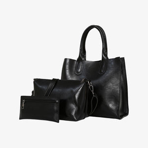 Handbag set in black