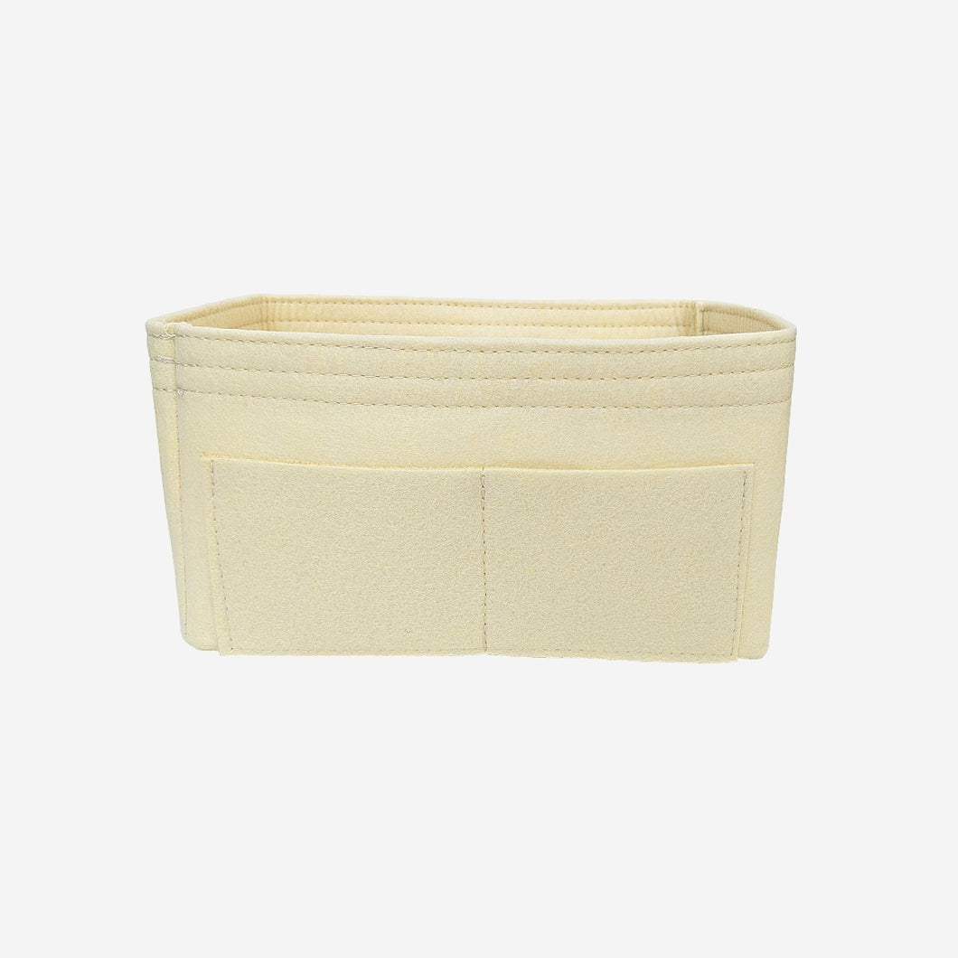 Handbag organiser insert in light yellow