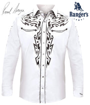 Rafael Amaya By Rangers Men's Embroidered Long Sleeve Shirt White 081CA01