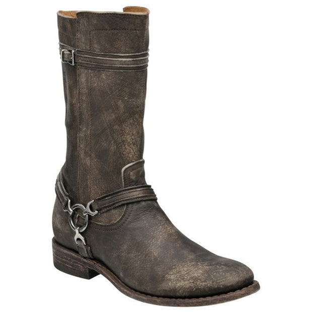Cuadra Mens Genuine Deer Engineer Boot Kaos Expresso 1Y01VE