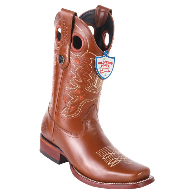 Men's Wild West Boots Genuine Leather Square Toe Handcrafted