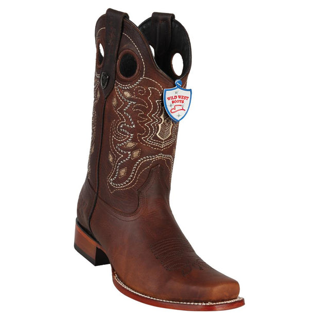 Wild West Boots Men's Rage Leather Square Toe Boots Handcrafted Boots