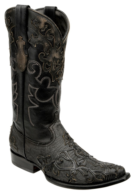 Cuadra Mens Genuine Lizard Teju Embroidered 2B07LT