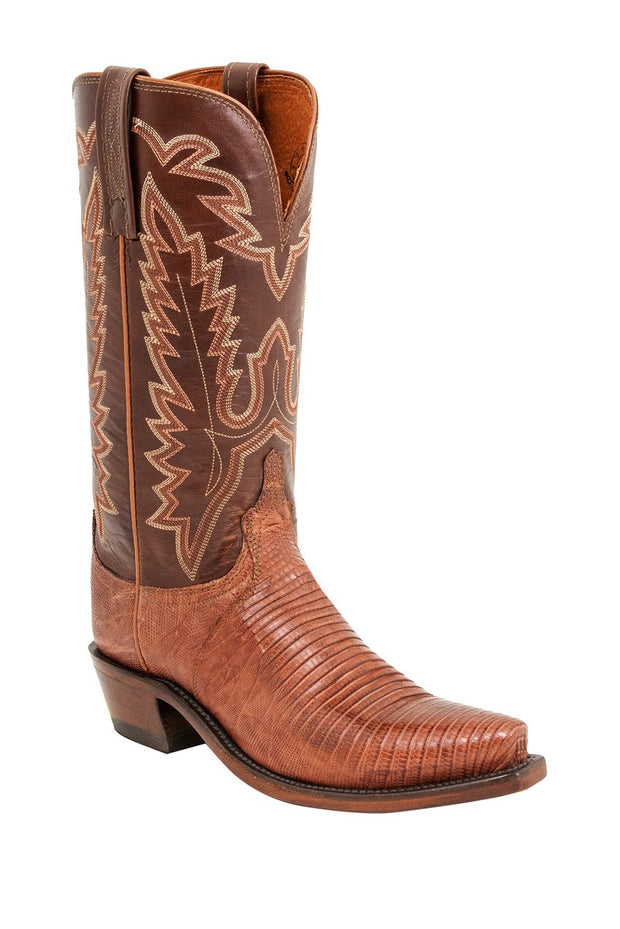 Lucchese Womens Lizard Peanut Brittle, Western Boot A4011.S54