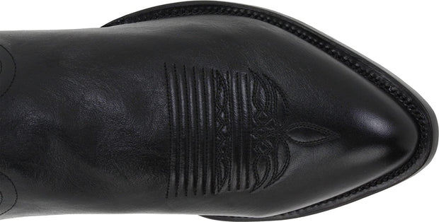 Lucchese Mens Bootmaker M1020.J4 Rounded Point Toe Cowboy Heel Boot (Men's) Black