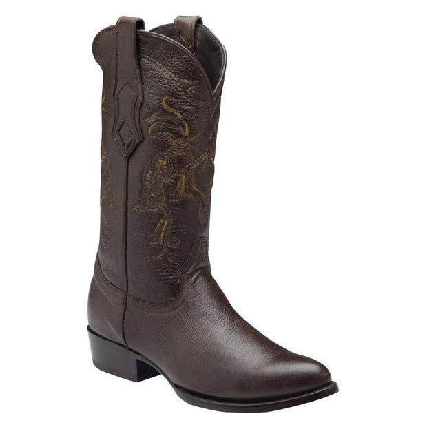Cuadra Mens Genuine Deer Traditional Western Boot Brown A3VENI