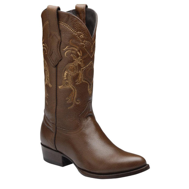 Cuadra Mens Genuine Deer Traditional Western Boot Honey A3VENI
