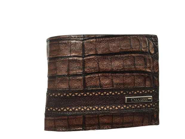 Cuadra Exotic Caiman Fucus Belly Wallet