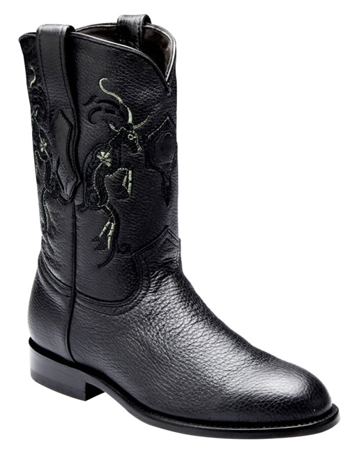 Cuadra Mens Genuine Deer Roper Boot C3VENI Black