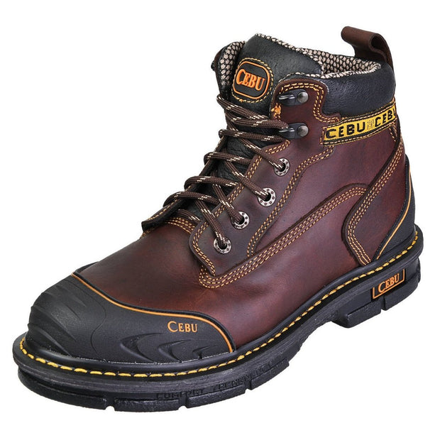 "MEN'S CEBU BORCESHARK SOFT TOE 6"" WORK BOOTS"