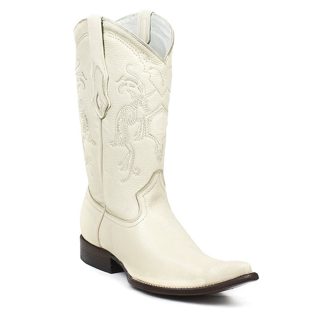 Cuadra Mens Genuine Deer Boots Bone Y3VENI