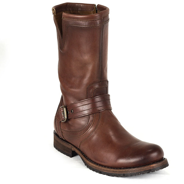 Cuadra Leather Biker Boots Brown 2E09VG