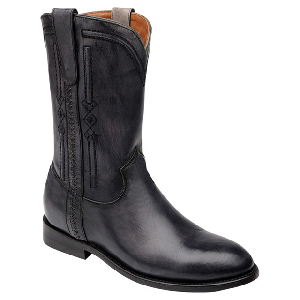 Cuadra Leather Black Boots C301PR