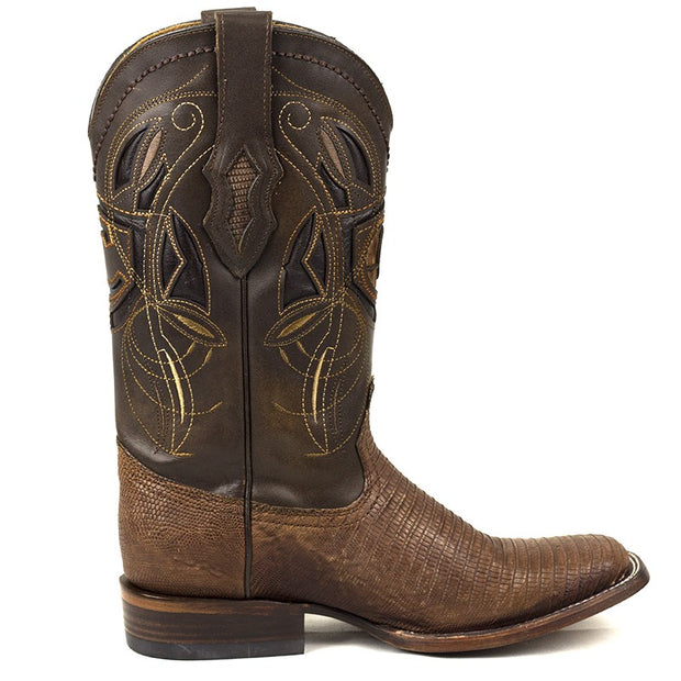 Cuadra Lizard Teju Leather Rodeo Toe Honey 2P02LTHONEY
