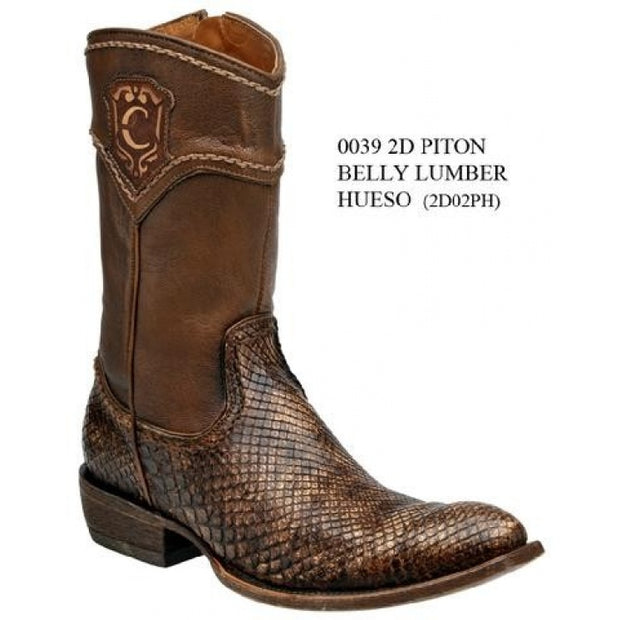 CUADRA MENS PITON BELLY LUMBER HUESO BOTIN 2D02PH