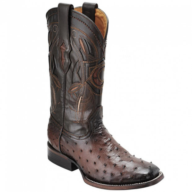 Cuadra Rodeo Ostrich Brown Boots 2P02A1-BROWN