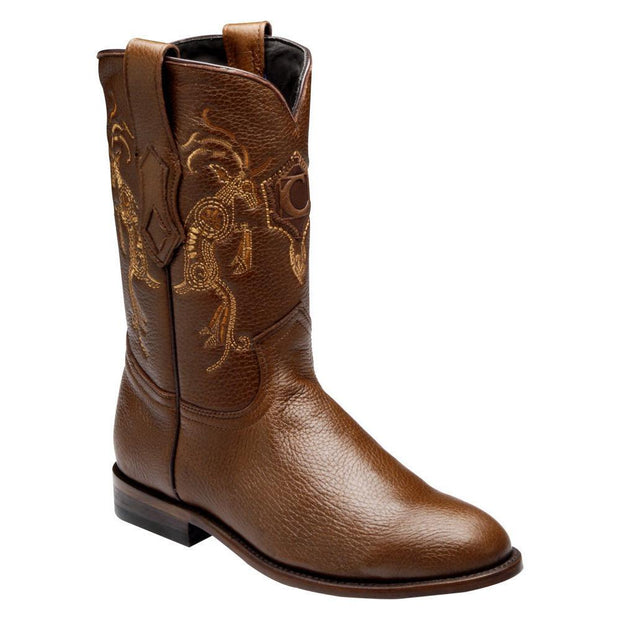 Cuadra Mens Genuine Deer Roper Boot C3VENI Honey