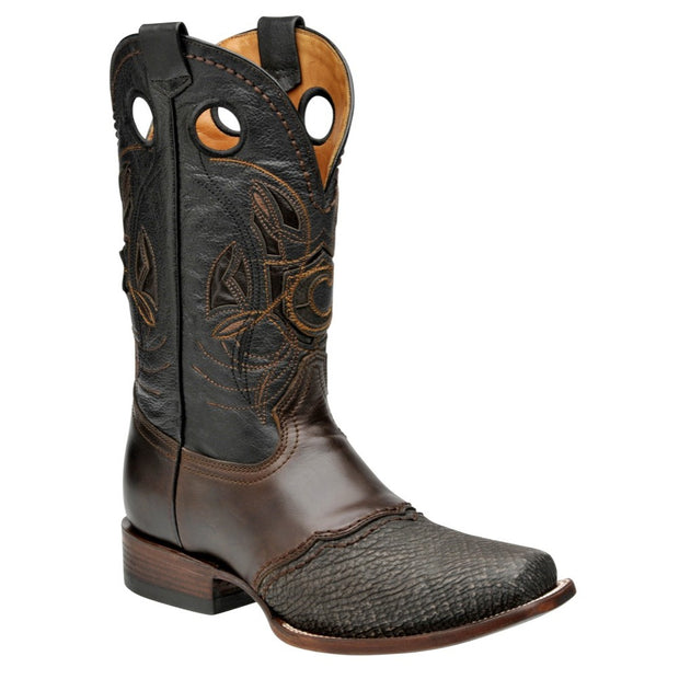 Cuadra Mens Shark Western Rodeo Boots Black 2I02TI