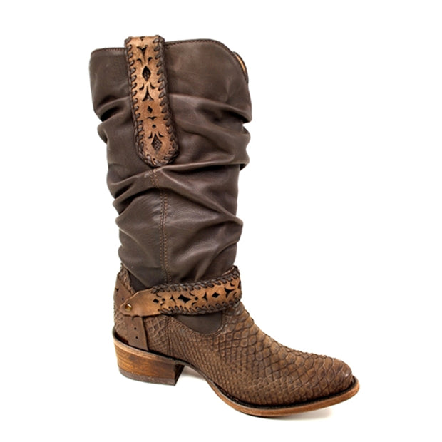 Cuadra Women Genuine Python Leather Western Boot 1X09PH