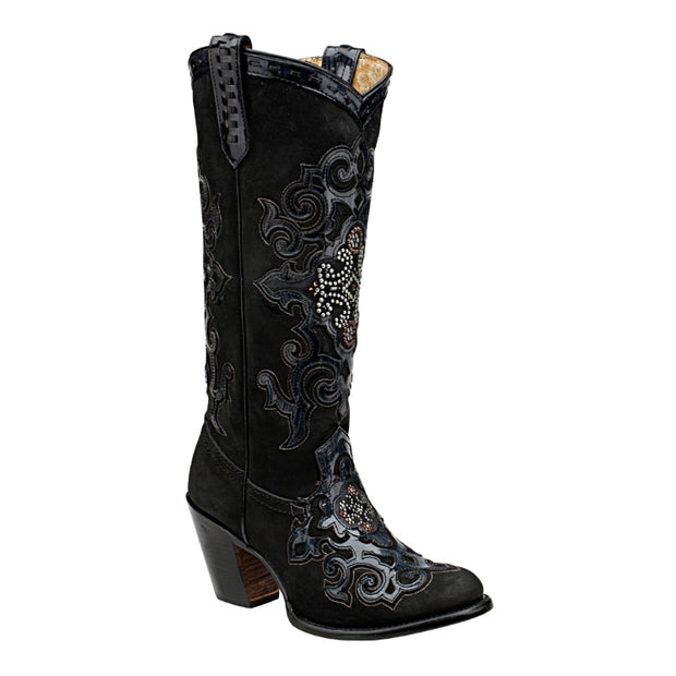 Cuadra Women Western Boot Embroidery Leather and Swarovski Crystals 1Z22RN
