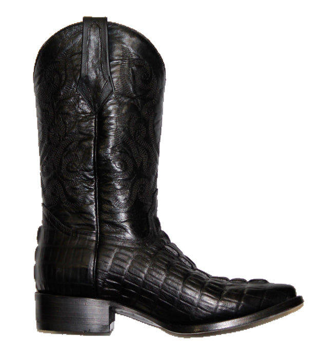 Mens' Potrero Boots Crocodile Print Black