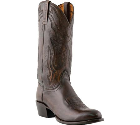 Mens Lucchese Bootmaker M1023.J4 Rounded Point Toe Cowboy Heel Boot