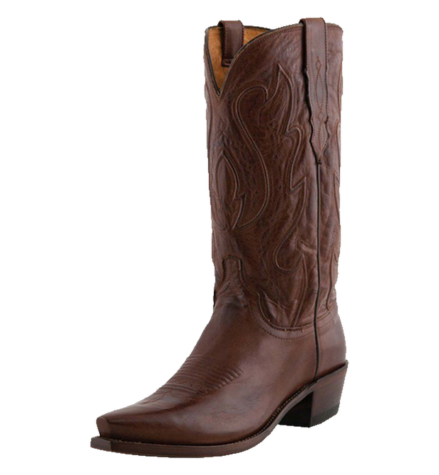 Lucchese Mens M1004.S54 Cole Tan Ranch Hand Western Cowboy Boots