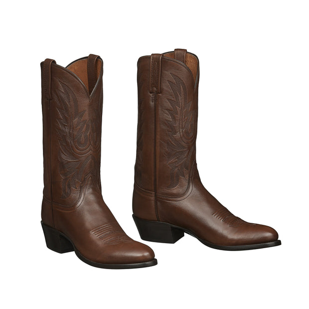 Lucchese Bootmaker Carson Cowboy Boots Antique Brown Lonestar Calf Leather M1022.R4 (Mens)