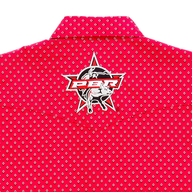 Wrangler® Logo Long Sleeve Shirt - PBR - MHS235M - Red