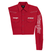 Wrangler® Logo Shirt - PBR - MHS237M - Red/Black