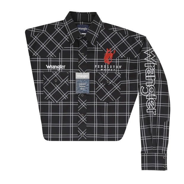 Wrangler® Logo Long Sleeve Shirt - MP1313X - Black