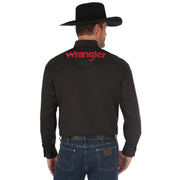 Wrangler® Logo Long Sleeve Shirt - MP2338X - Black
