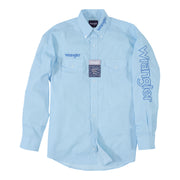 Wrangler® Logo Long Sleeve Shirt - MP2347M - Light Blue