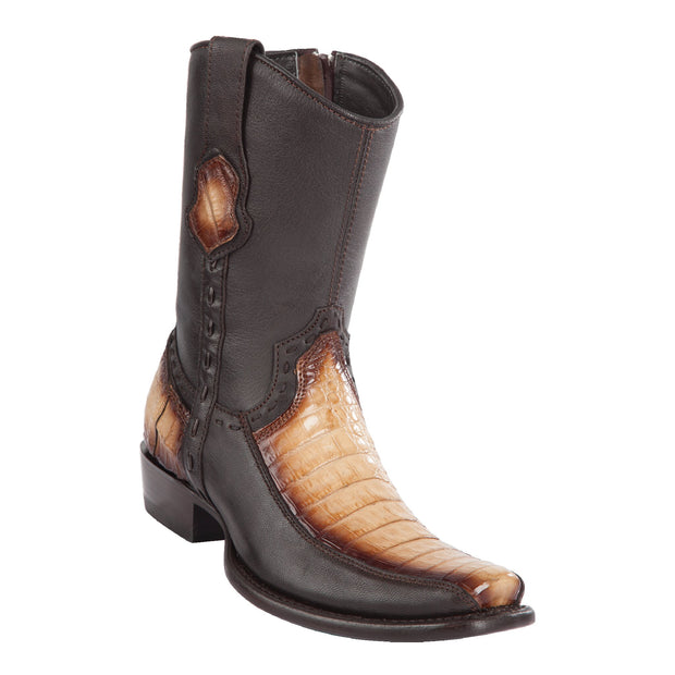 MEN'S WILD WEST BOOTS CAIMAN BELLY SHORT DUBAI FADED ORYX