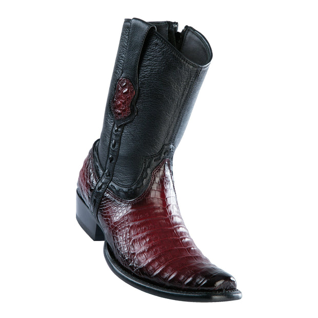 Men's Dubai Short Boot Genuine Caiman Belly