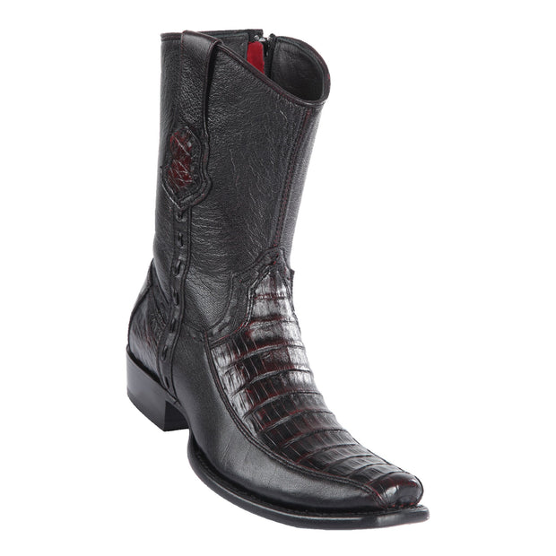 MEN'S WILD WEST BOOTS CAIMAN BELLY SHORT DUBAI BLK CHERRY