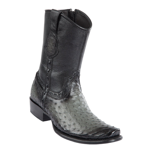 Men's Dubai Short Boot Genuine Ostrich