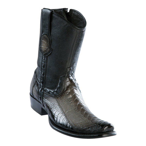 Men's Dubai Short Boot Genuine Ostrich Leg