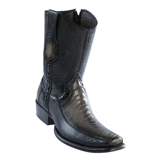 Men's Dubai Short Boot Genuine Ostrich Leg with Deer