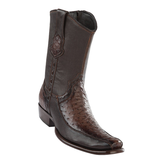 Men's Dubai Short Boot Genuine Ostrich with Deer