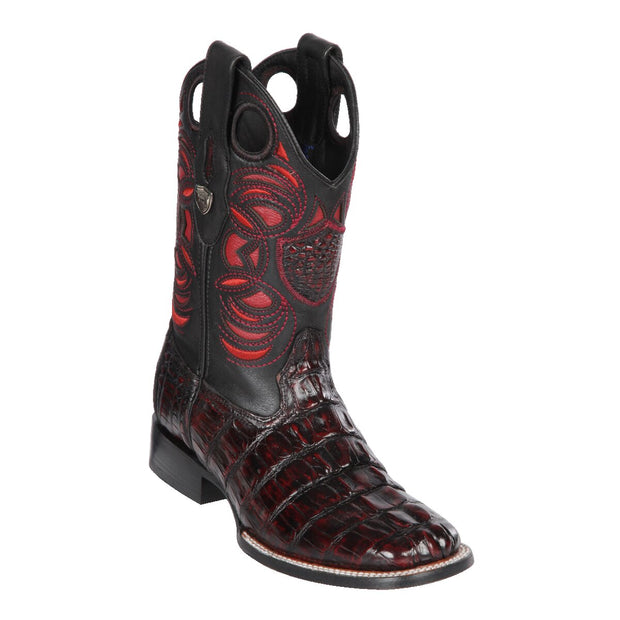 Men's Wild Ranch Toe Boot Genuine Caiman Tail