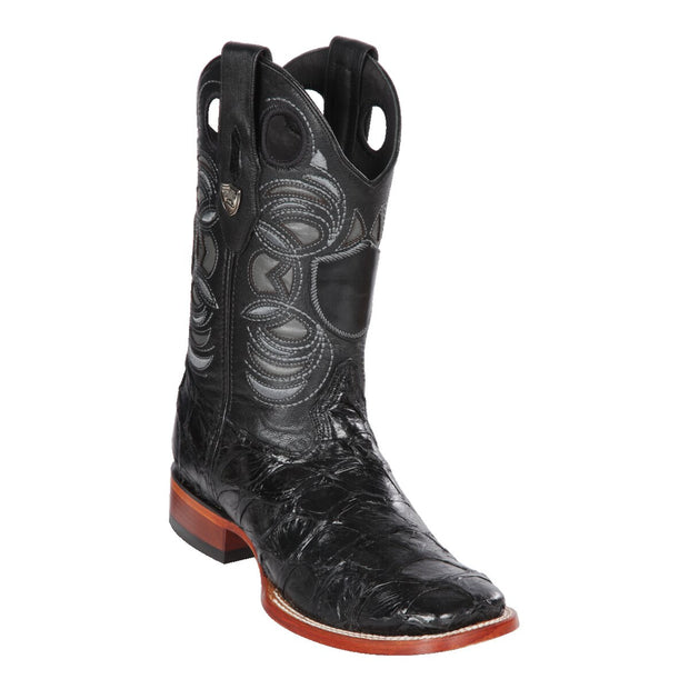 Men's Wild Ranch Toe Boot Genuine Inverted Pirarucu