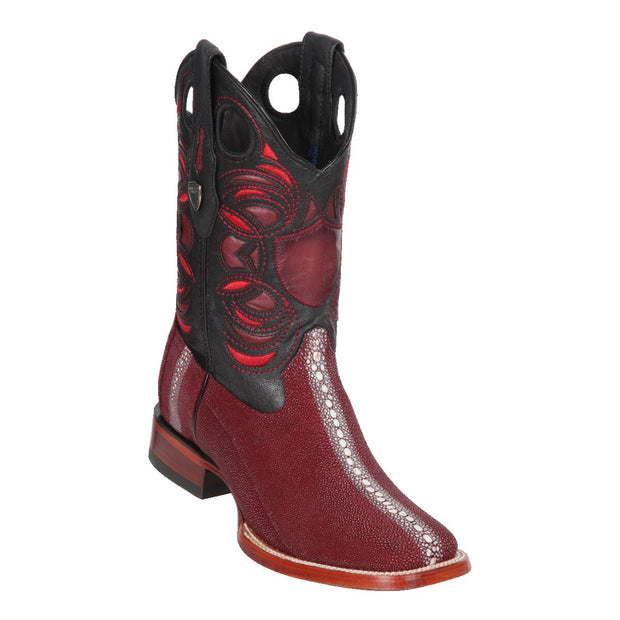 Men's Wild Ranch Toe Boot Genuine Stingray Rowstone