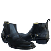 Brunello's Silverado Square Toe Short Boot (Napa Black)