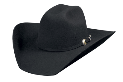 Bullhide Hats Black KINGMAN 4X Men